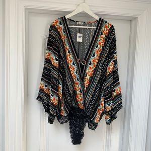 NWT - Free People Lace Bodysuit - XL